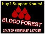 flag blood forest warning no bw buy Support Krauts