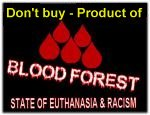 flag blood forest warning no bw don t buy product of