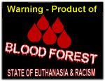 flag blood forest warning no bw product of
