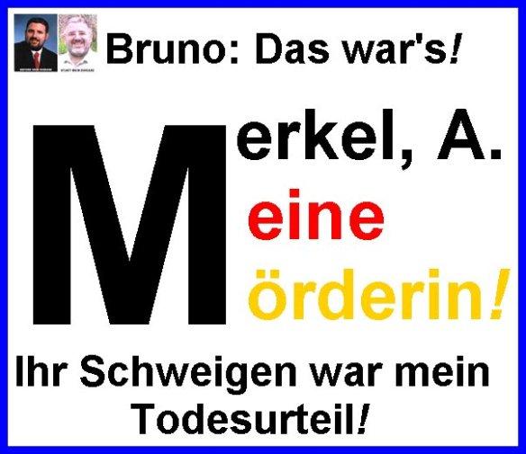 Merkel Meine Mörderin A frame blue