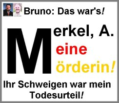Merkel Meine Mörderin A frame grey