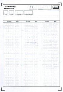 JVA Einkauf ID list front