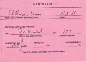 Laufzettel 04 of 09
