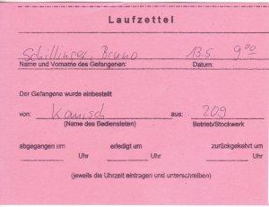 Laufzettel 05 of 09