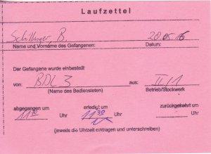 Laufzettel 06 of 09