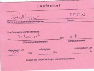 Laufzettel 07 of 09
