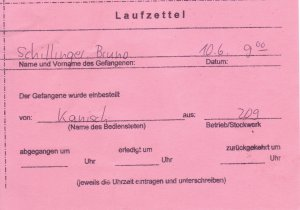 Laufzettel 08 of 09